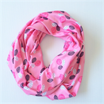 Women's Pink Patterned Infinity Scarf or Accessory or Breastfeeding Wrap